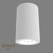 OM Universal, laid on or mortise gypsum lamp RODEN-light RD-50 MR-16