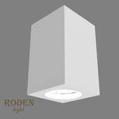 OM Universal, laid on or mortise gypsum lamp RODEN-light RD-51 MR-16