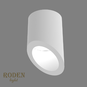 OM Universal, laid on or mortise gypsum lamp RODEN-light RD-54 MR-16