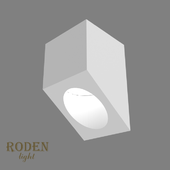 OM Universal, laid on or mortise gypsum lamp RODEN-light RD-55 MR-16