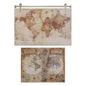 Maisons du Monde World map decor 4
