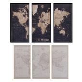 Maisons du Monde World map decor 3