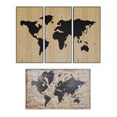 Maisons du Monde World map decor 2