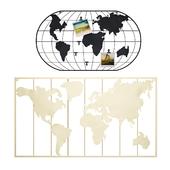 Maisons du Monde World map decor 1