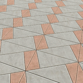 Paving from triangular plates