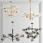 Staggered & Clear Glass Chandelier - 4 type