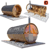 Finnish Outdoor Barrel Sauna