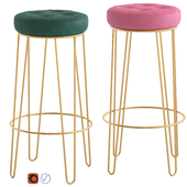 Cult Furniture Delta Hairpin Bar Stool