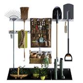 Storage of garden equipment