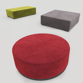 MERIDIANI POUF AND BENCHES BRONS 1996