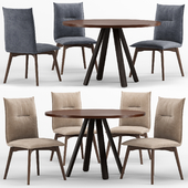 Stecco cocktail table and Maya chair - connubia calligaris