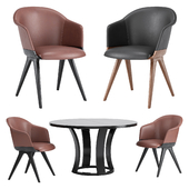 Lyz Chair & Grace Table by Potocco