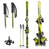 Skis and sticks