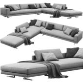 Poliform Mondrian corner sofa