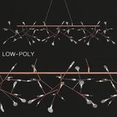 Firefly Crossbars Sputnik Pendant Light Chandelier Ambient