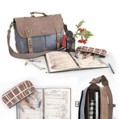 School Bag and Stationery