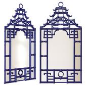 Chairish / Blue Pagoda Wall Mirror