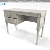 MADE Bourbon Vintage Compact Desk Grey