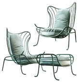 Arpa armchair and footstool