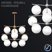 Sphere + Steam 9-Light Chandelier