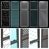 Decorative metal lattices - Rhombus