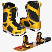 Snowboard + Boots + Bindings