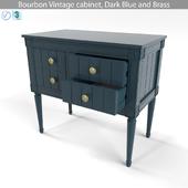 MADE Bourbon Vintage cabinet, Dark Blue and Brass