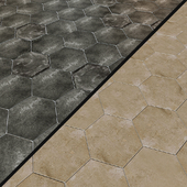 Porcelain tile EQUIPE URBAN Hexagon 5 options