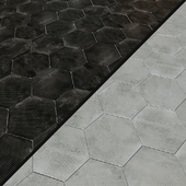 Porcelain tile EQUIPE URBAN Hexagon Melange 5 options
