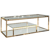 Стол журнальный со стеклянной столешницей (цвет хром, золото) GY-CT8005, GY-CT8005GOLD