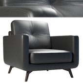 John Lewis & Partners Barbican Leather Armchair