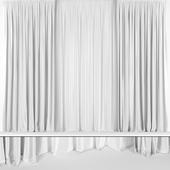 Серые шторы из тюля