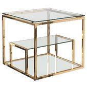 Столик журнальный со стеклянной столешницей (цвет хром, золото) GY-ET8005, GY-ET8005GOLD Garda Decor