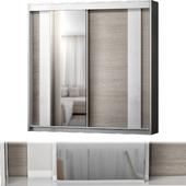 Modern 2 Door Sliding Wardrobe Hokku Designs Colou