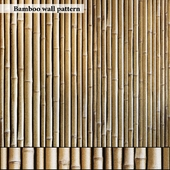 Bamboo wall seamless