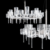 Chandelier AXO Light Spillray SP lamps 20 crystal glass