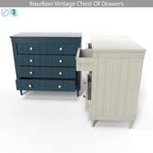 Bourbon Vintage Chest Of Drawers, Grey and Dark Blue