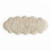 Fluffy decorative carpet made of Icelandic sheepskin fur
