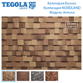 Seamless texture of flexible tiles TEGOLA. Category Business. NORDLAND Collection. Model Alaska.