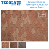 Seamless texture of flexible tiles TEGOLA. Category Business. NORDLAND Collection. Model ploughshare.