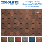 Seamless texture of flexible tiles TEGOLA. Category Business. NORDLAND Collection. Model Nordic.