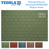 Seamless texture of flexible tiles TEGOLA. Category Business. NORDLAND Collection. Model Antique.