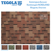 Seamless texture of flexible tiles TEGOLA. Category Business. NORDLAND Collection. Model Alpin.