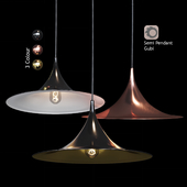 Подвесной светильник Semi Pendant By Bonderup & Thorup for Gubi Black/Gold/Copper