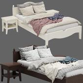 Детская кровать с колоннами №5