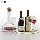 West Elm Bar Wine Set