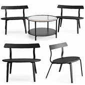 Armchair and Coffee Table Varmer Vittsjo