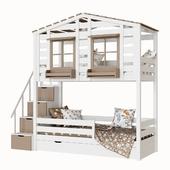 Children's 2-level bed lodge Bilbao