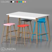 Bar stools and table BC-8063A