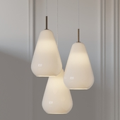 Anoli 3 Opal Pendant Light